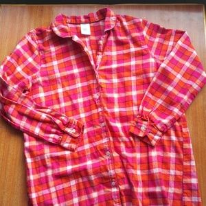 Lands' End flannel nightshirt